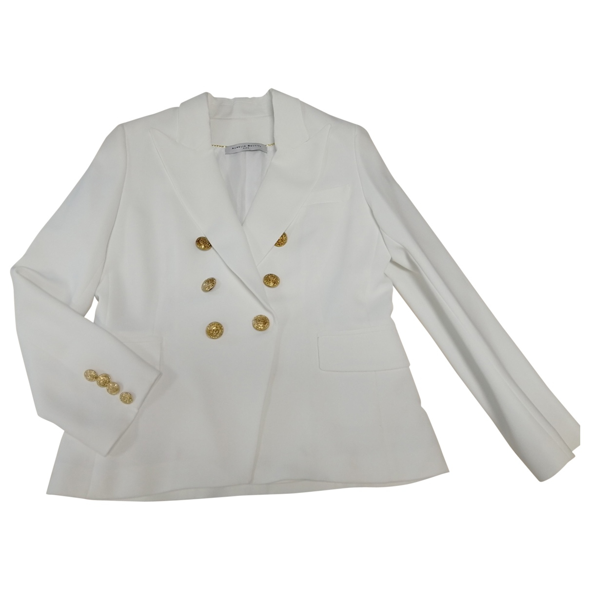 Non Signé / Unsigned \N White jacket for Women 46 FR