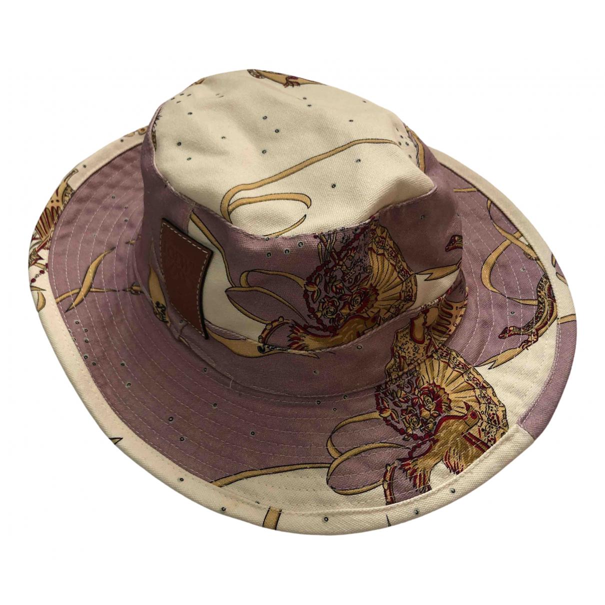 Loewe N Beige Cotton hat & pull on hat for Men 60 cm