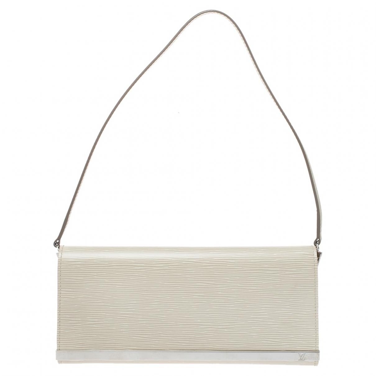 Louis Vuitton Sevigné White Leather Clutch bag for Women N