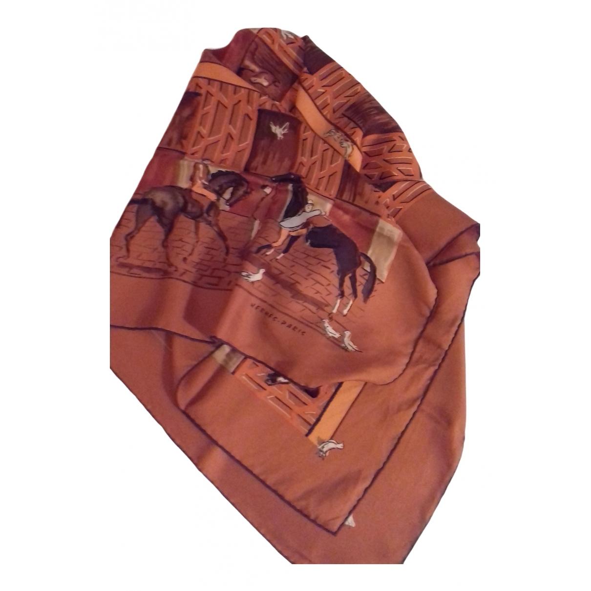 Hermes - Foulards.Echarpes   pour enfant en soie - orange