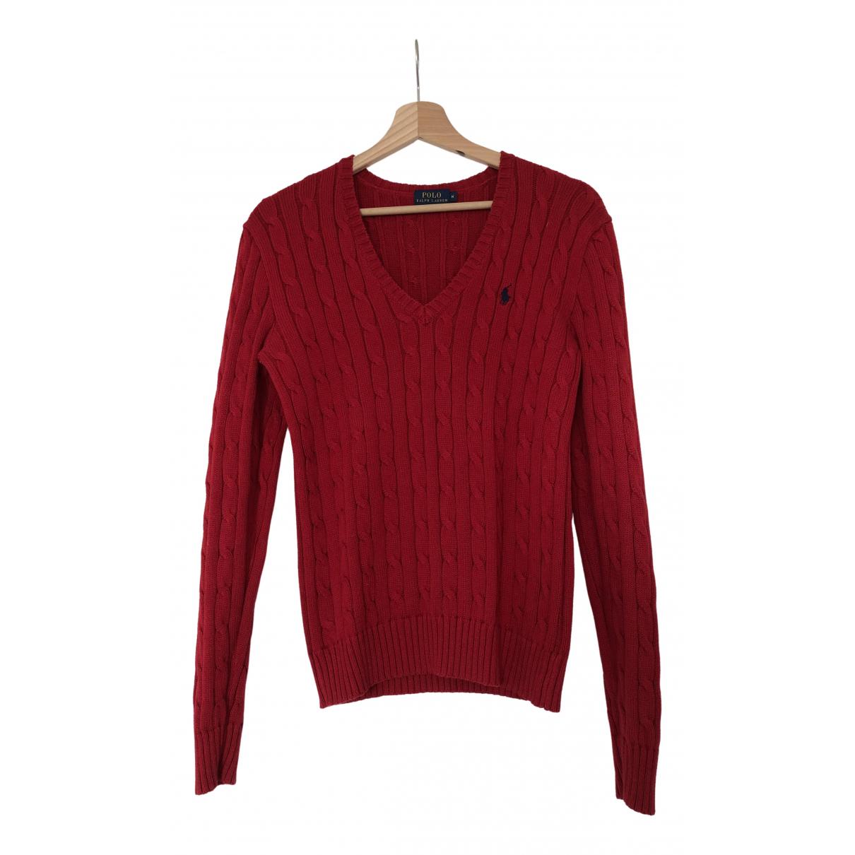 Polo Ralph Lauren \N Red Cotton Knitwear for Women M International
