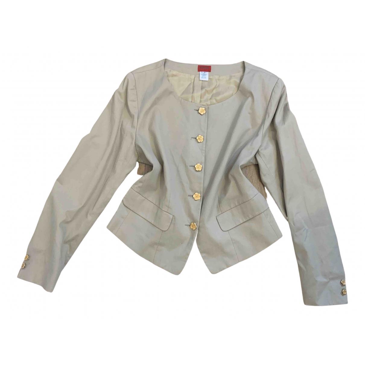 Kenzo \N Beige Cotton jacket for Women 42 IT