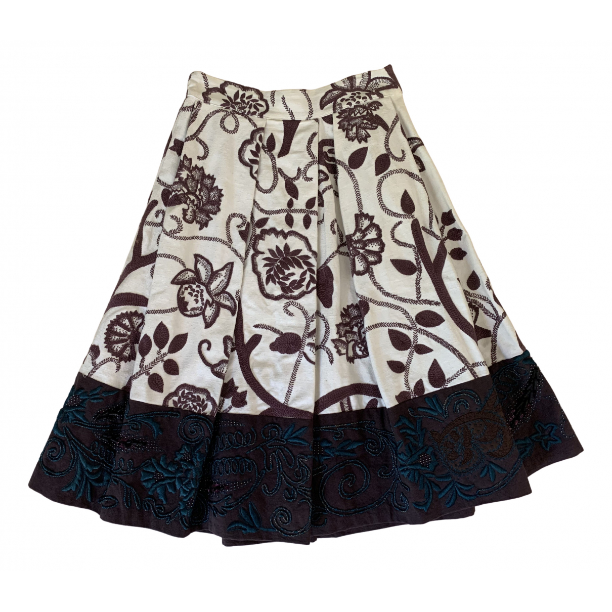 Dries Van Noten \N Multicolour Cotton skirt for Women 36 FR