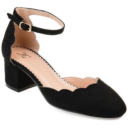 Journee Collection Womens Edna Heeled Sandals, 7 Medium, Black
