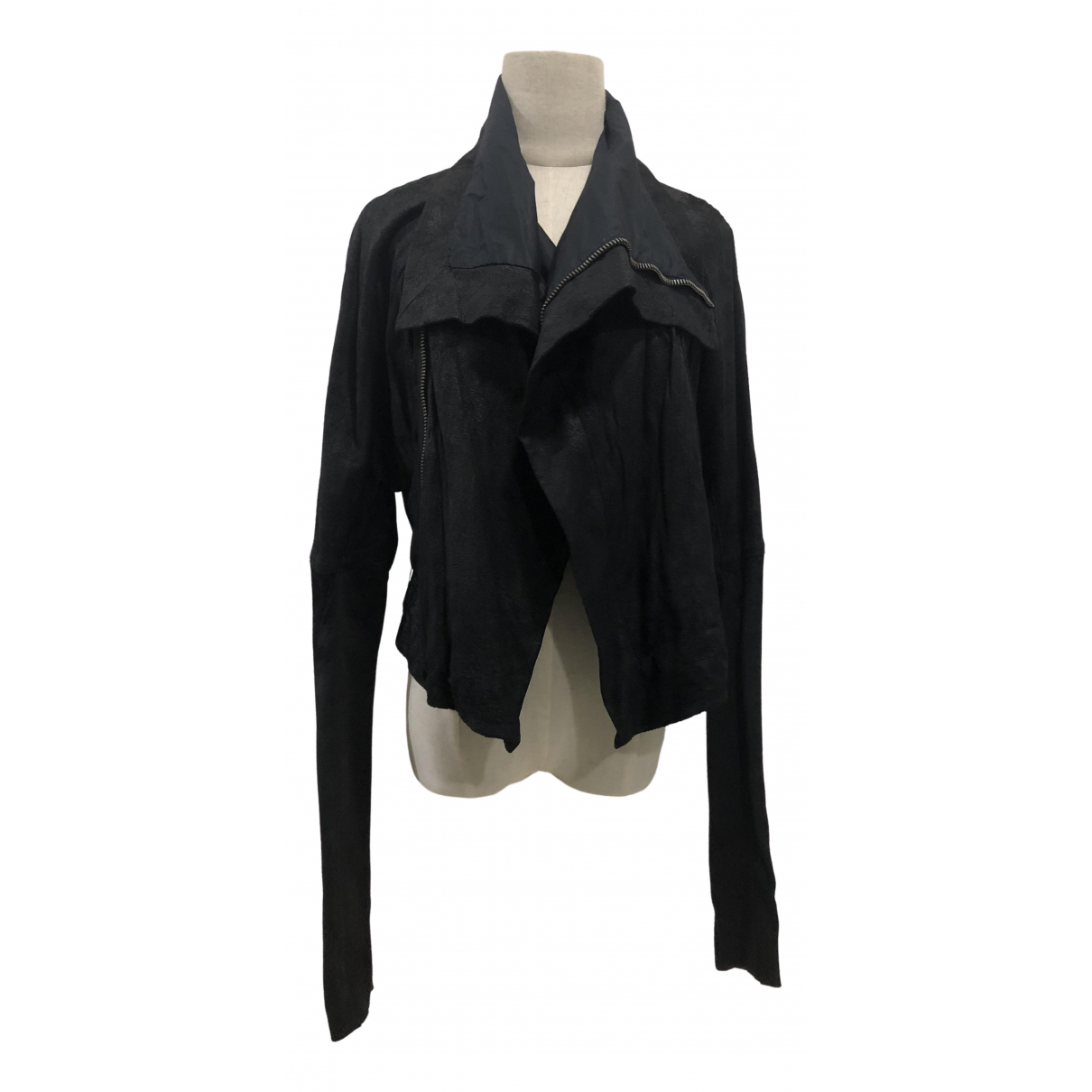 Rick Owens \N Black Leather jacket for Women 38 IT