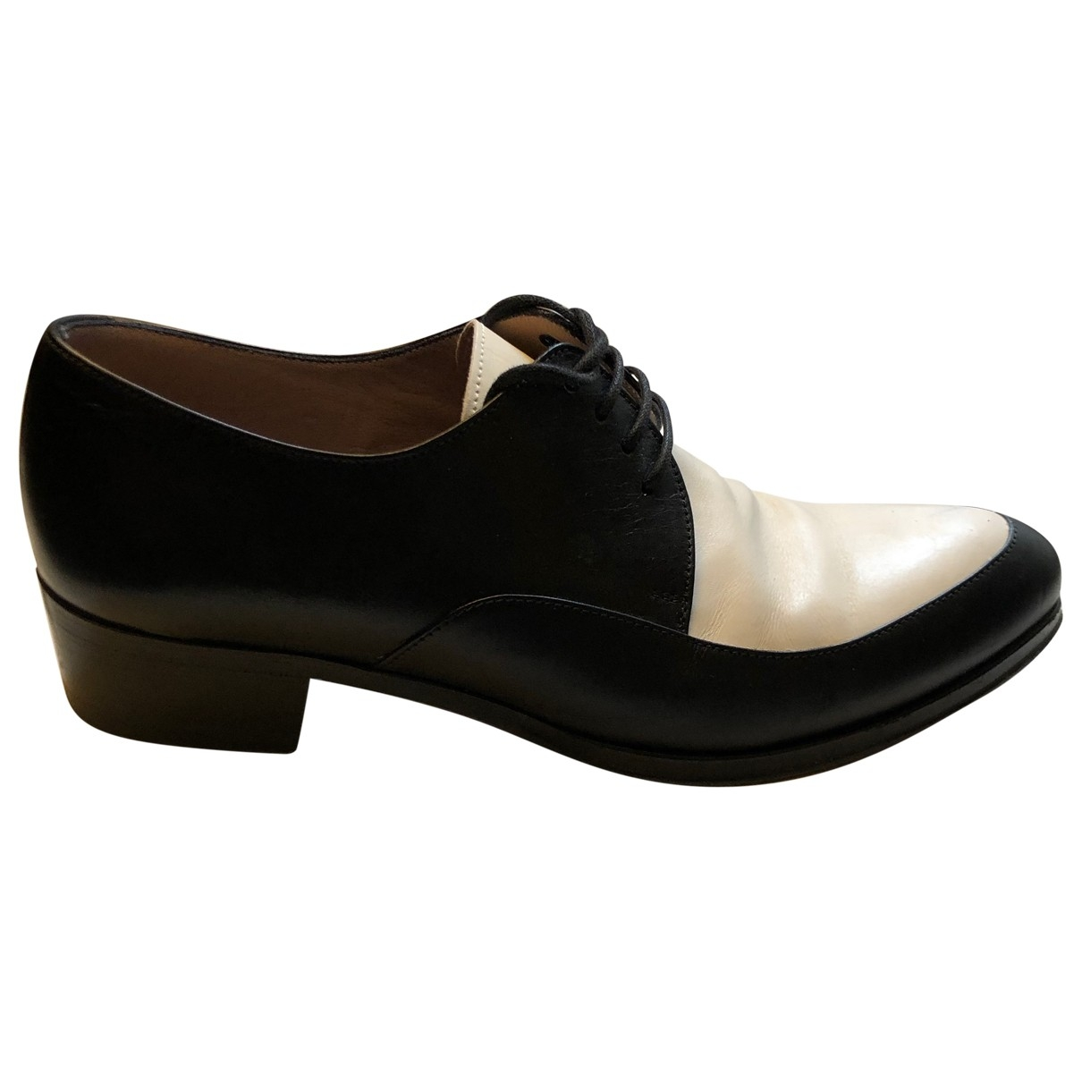 Henderson Fusion \N Black Leather Lace ups for Women 38 EU