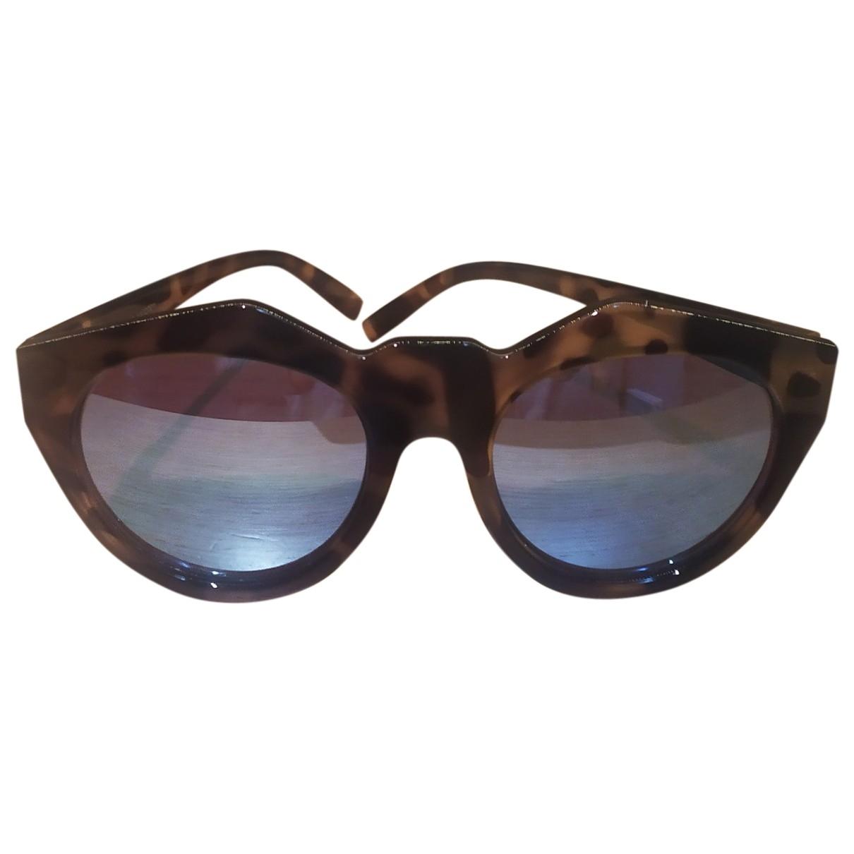 Le Specs \N Sonnenbrillen in  Braun Kunststoff