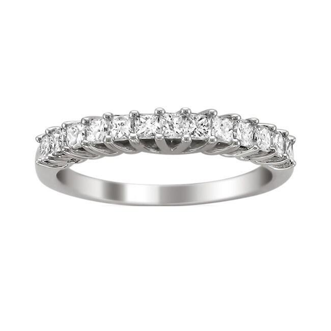 Montebello 14KT White Gold 3/4ct TDW Princess-cut Diamond Wedding Band (4.5)