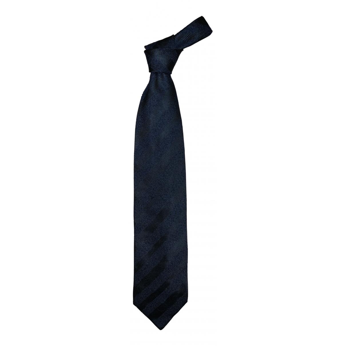 Giorgio Armani \N Krawatten in  Blau Seide