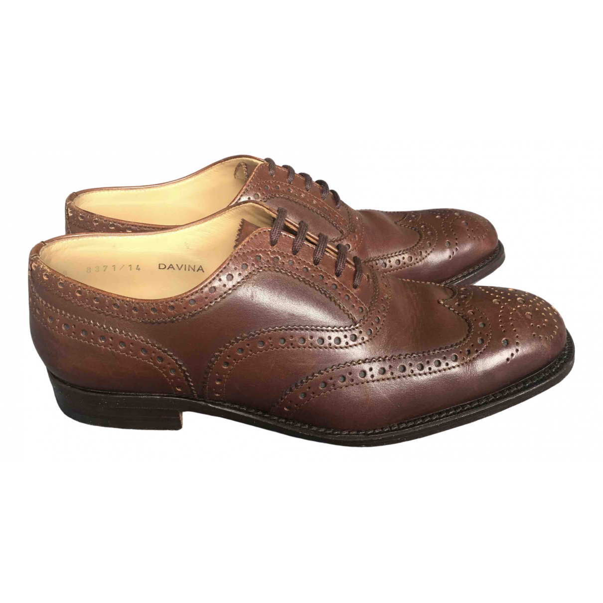 Churchs - Derbies   pour femme en cuir - marron