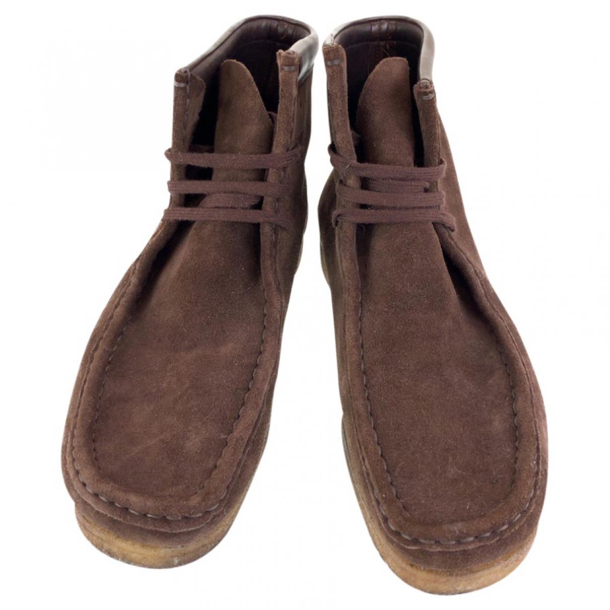 Tom Ford \N Stiefel in  Braun Veloursleder