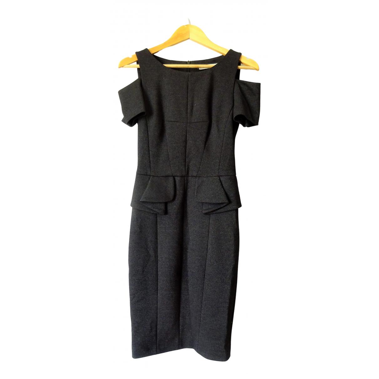 Karen Millen \N Kleid in  Anthrazit Viskose