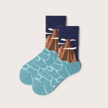 Cartoon Graphic Socks