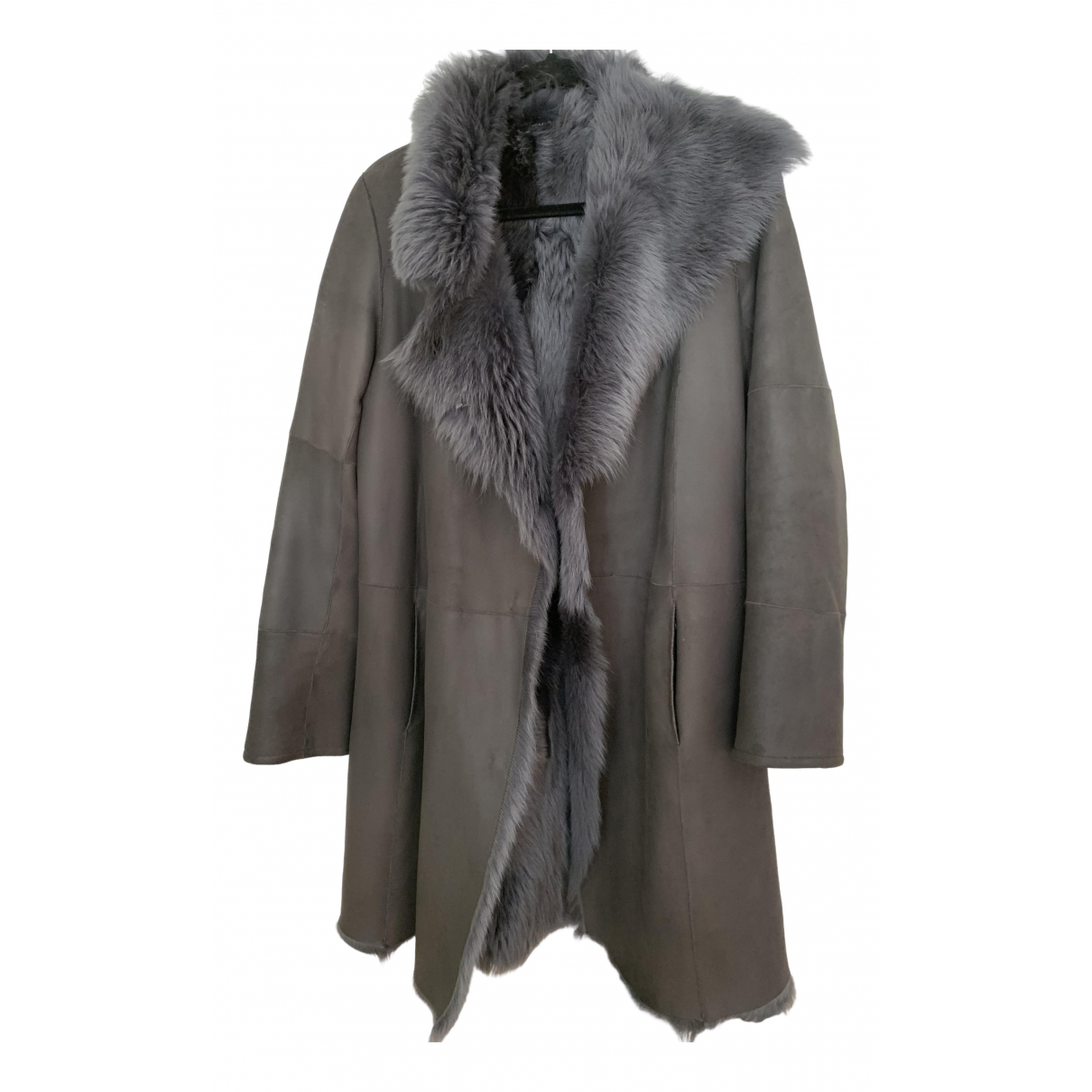 Joseph \N Grey Shearling coat for Women 38 FR