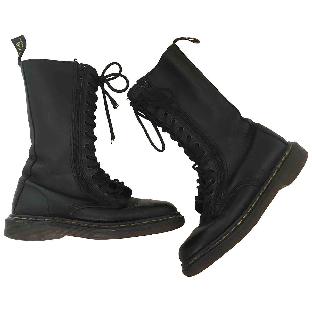 Dr. Martens \N Black Leather Boots for Women 37 EU