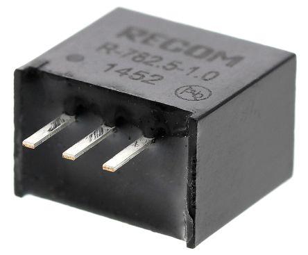 Recom Through Hole Switching Regulator, 2.5V dc Output Voltage, 4.75 → 18V dc Input Voltage, 1A Output Current