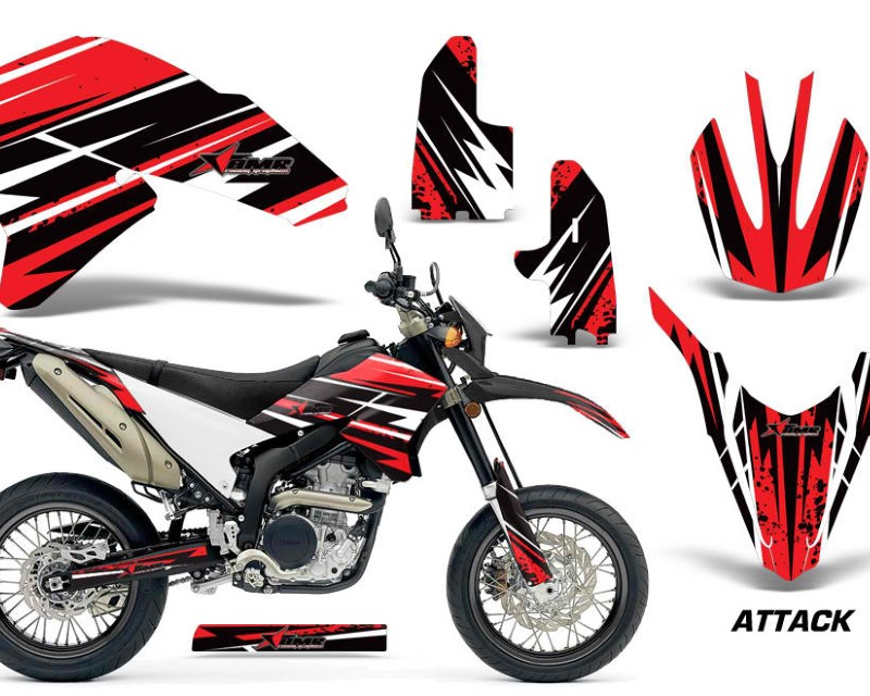 AMR Racing Dirt Bike Decal Graphics Kit Wrap For Yamaha WR250R WR250X 2007-2016áATTACK RED