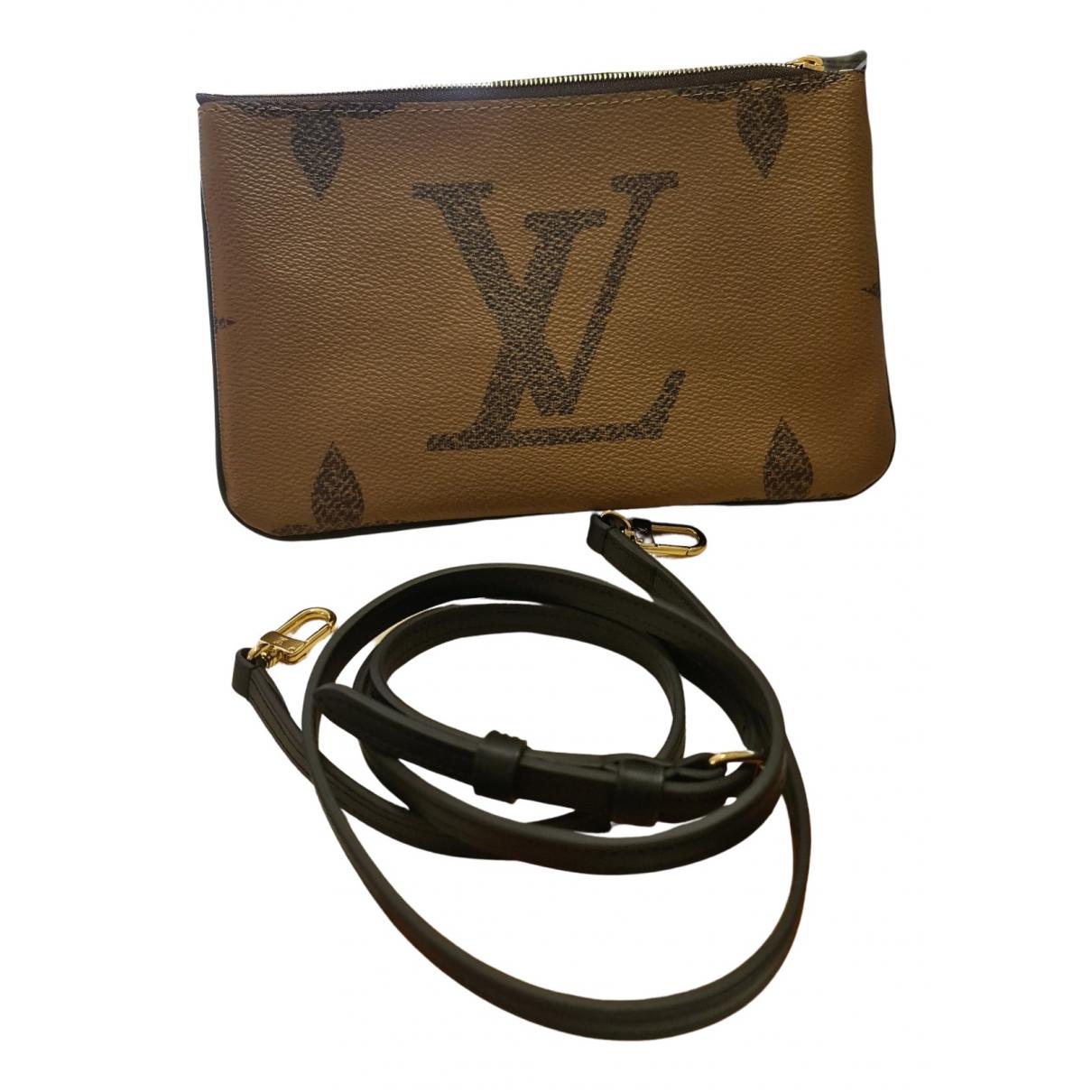 Louis Vuitton - Pochette Double zip pour femme en toile - marron
