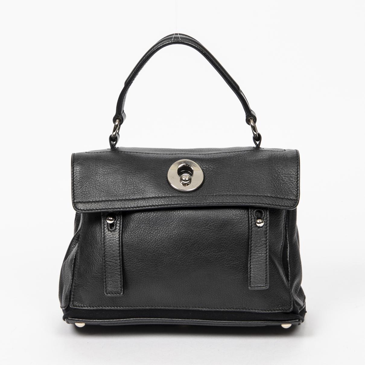 Yves Saint Laurent Muse Two Handtasche in  Schwarz Leder