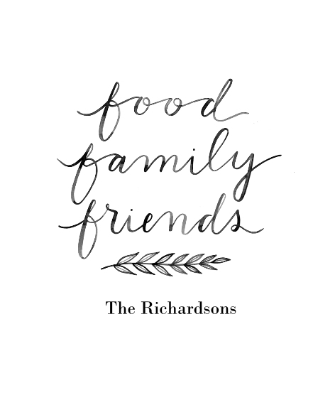Non Photo Framed Canvas Print, Black, 11x14, Home Décor -Food Family Friends