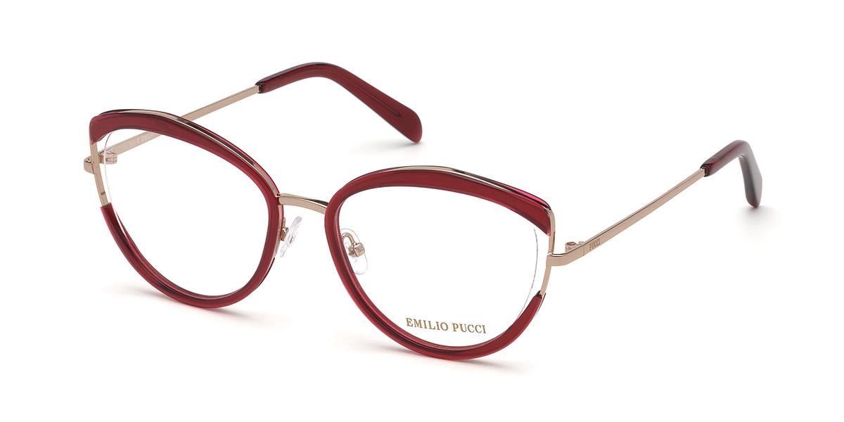 Emilio Pucci EP5106 068 Women's Glasses Red Size 53 - Free Lenses - HSA/FSA Insurance - Blue Light Block Available