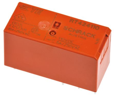 TE Connectivity , 110V dc Coil Non-Latching Relay DPDT, 8A Switching Current PCB Mount, 2 Pole