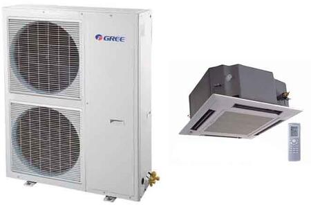 Single Zone Mini Split System with with 39500 BTU Cooling Capacity  44000 BTU Heating Capacity  Ceiling Cassette Indoor Unit and Decorative
