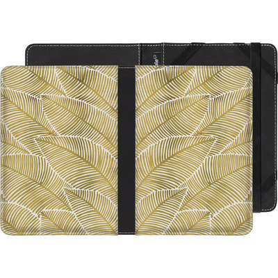 Pocketbook Touch Lux 2 eBook Reader Huelle - Tropical Leaves Gold von Cat Coquillette