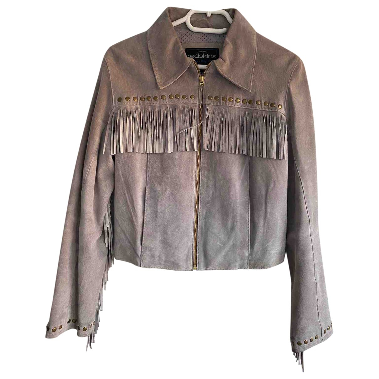 Non Signé / Unsigned \N Beige Suede Leather jacket for Women S International