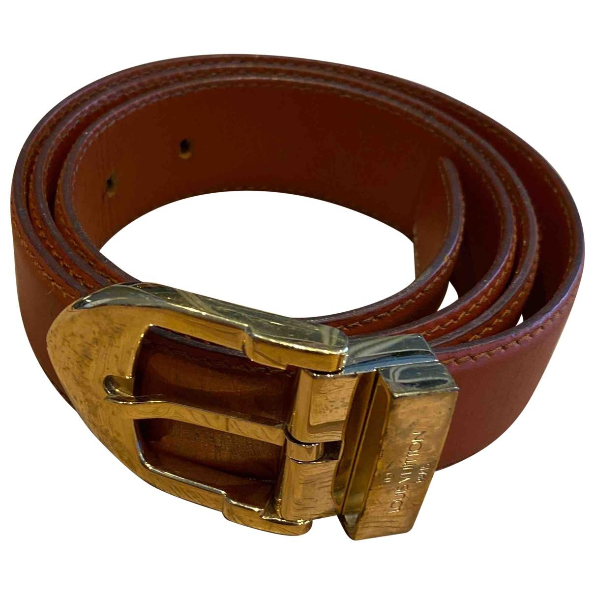 Louis Vuitton \N Brown Leather belt for Women 95 cm