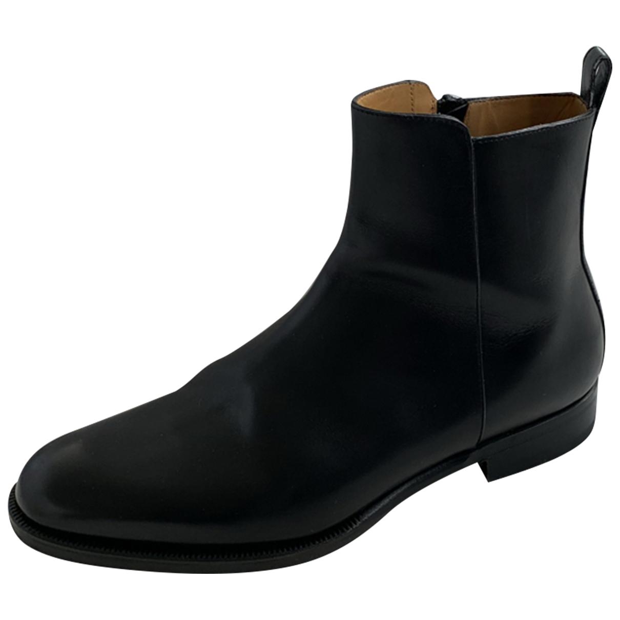 Valentino Garavani \N Black Leather Boots for Men 42 EU