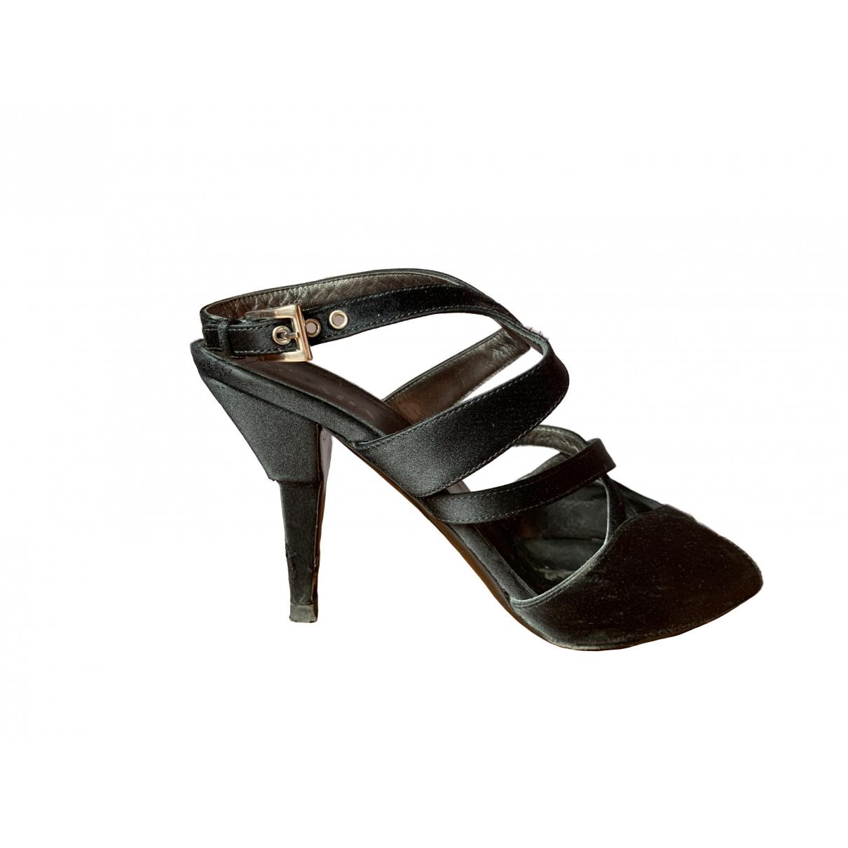 Prada - Sandales   pour femme en toile - noir