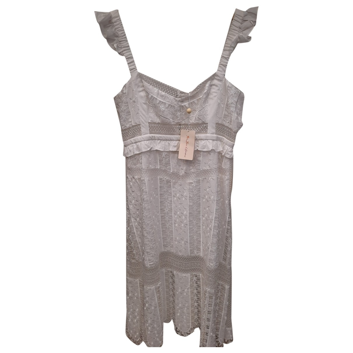 For Love & Lemons \N White Cotton dress for Women L International