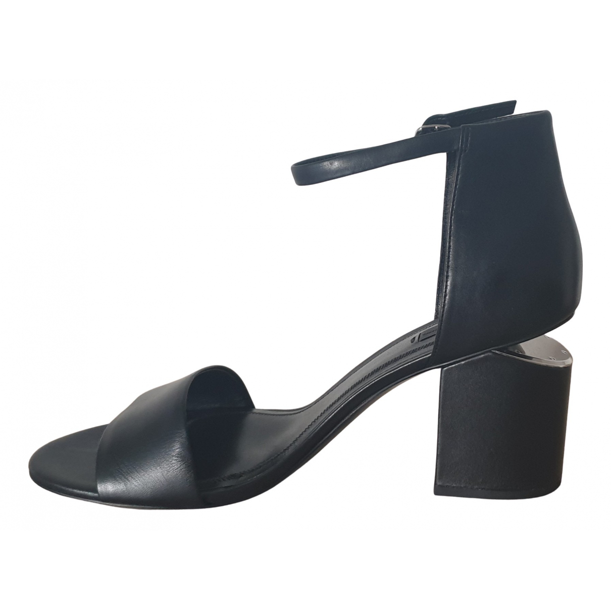 Alexander Wang N Black Leather Sandals for Women 41 EU