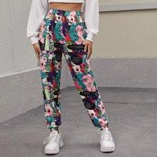 Pop Art Print Sweatpants