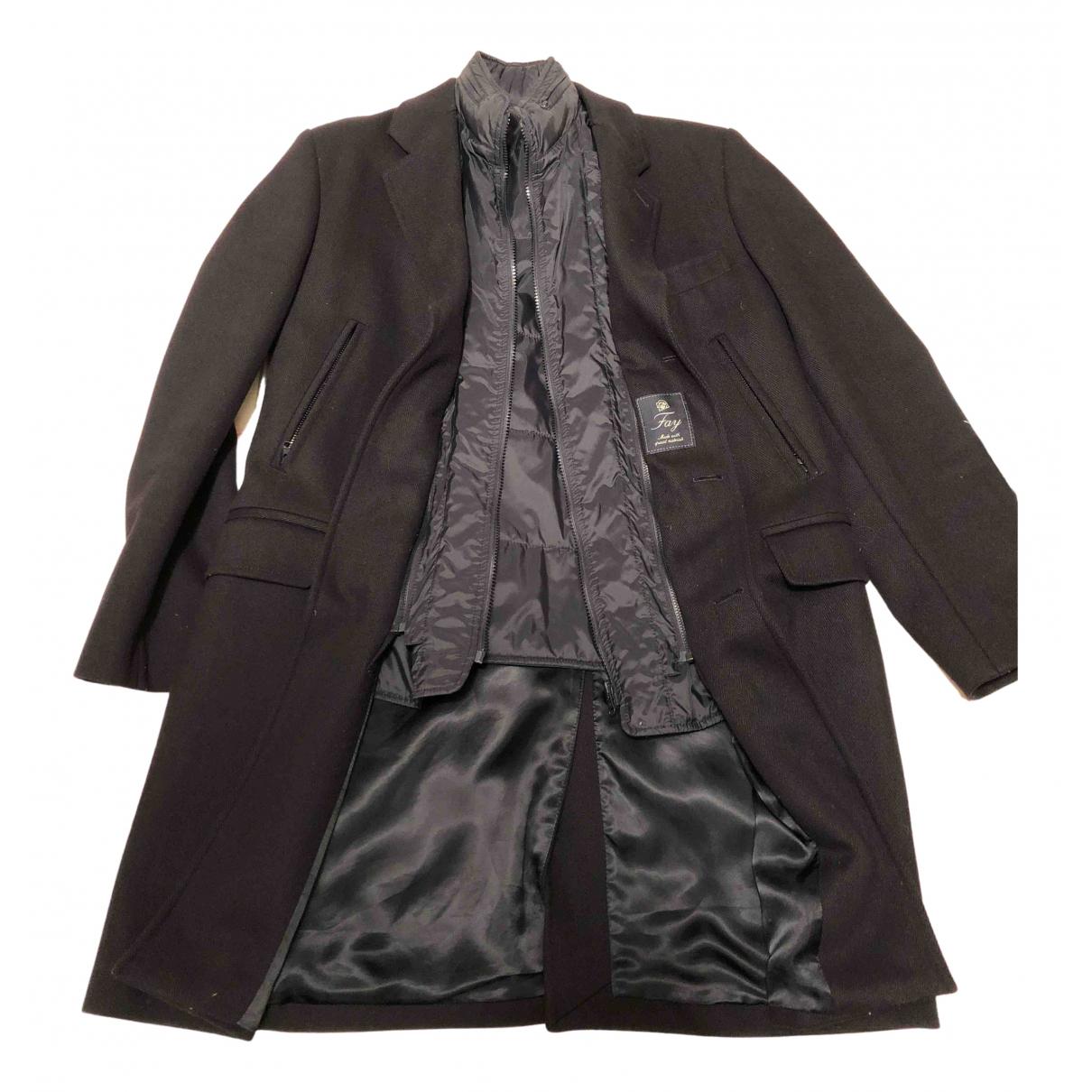 Fay - Manteau   pour homme en laine - bleu