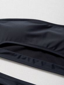 Cut Out One Shoulder Bikini Swimsuit