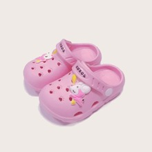 Toddler Girls Cartoon Mouse Detail Hollow Out Sandals