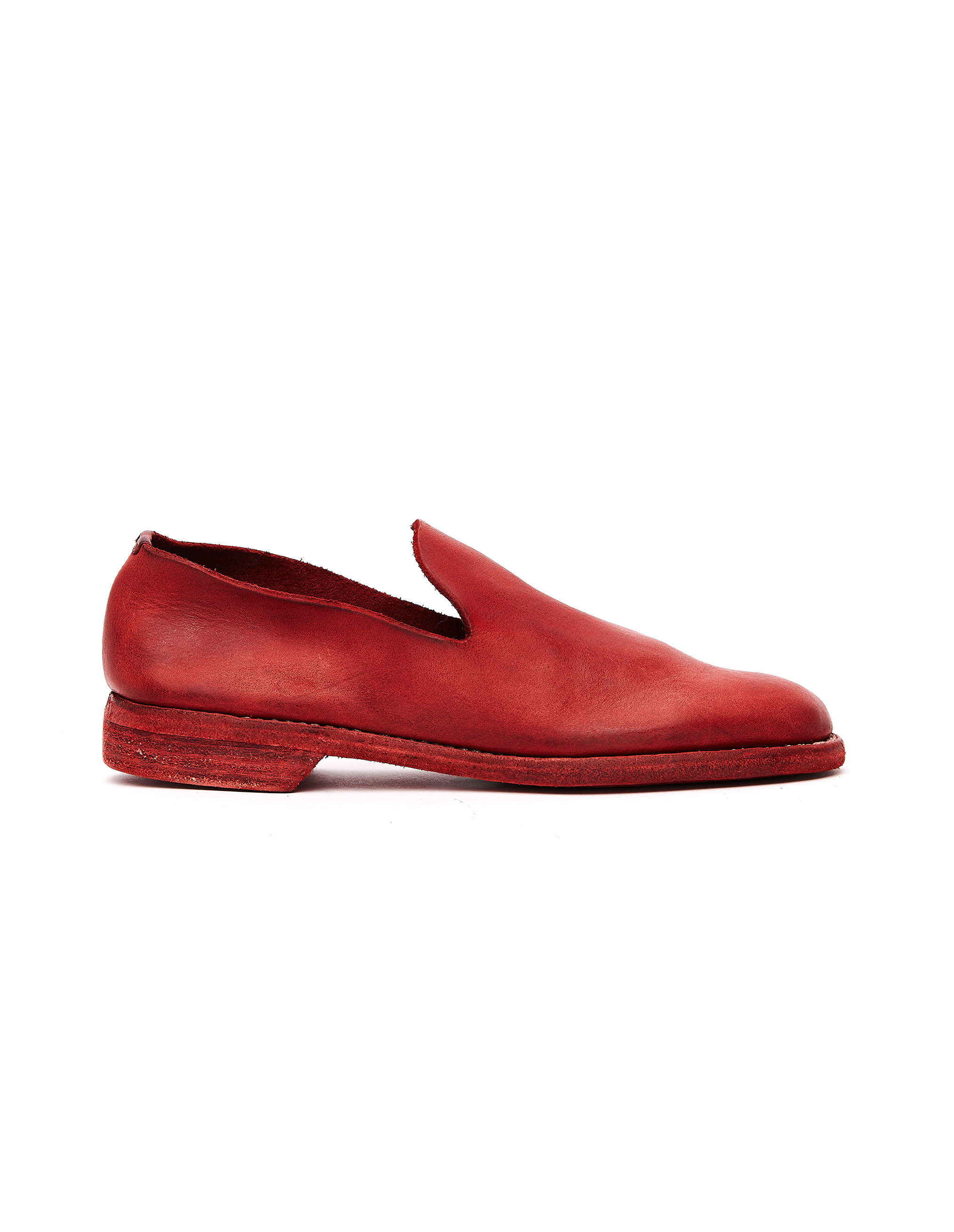 Guidi Red Leather Loafers