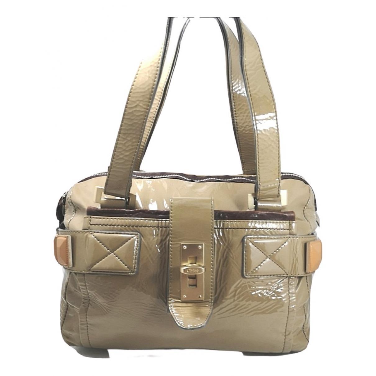 Chloe \N Handtasche in  Beige Lackleder
