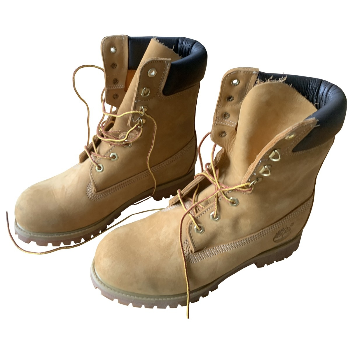 Timberland \N Beige Leather Boots for Men 40 EU