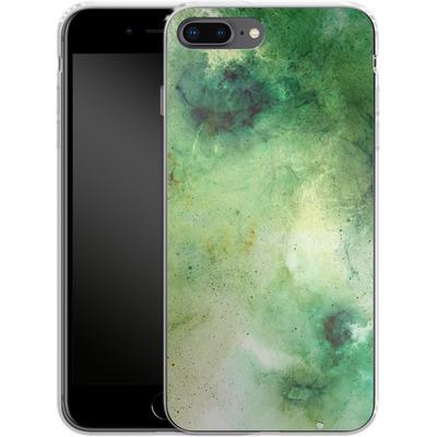 Apple iPhone 8 Plus Silikon Handyhuelle - Abstract Galaxy - Green von Barruf