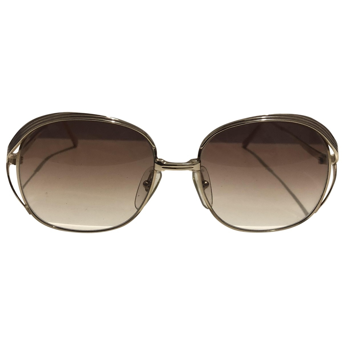 Dior \N Silver Metal Sunglasses for Women \N