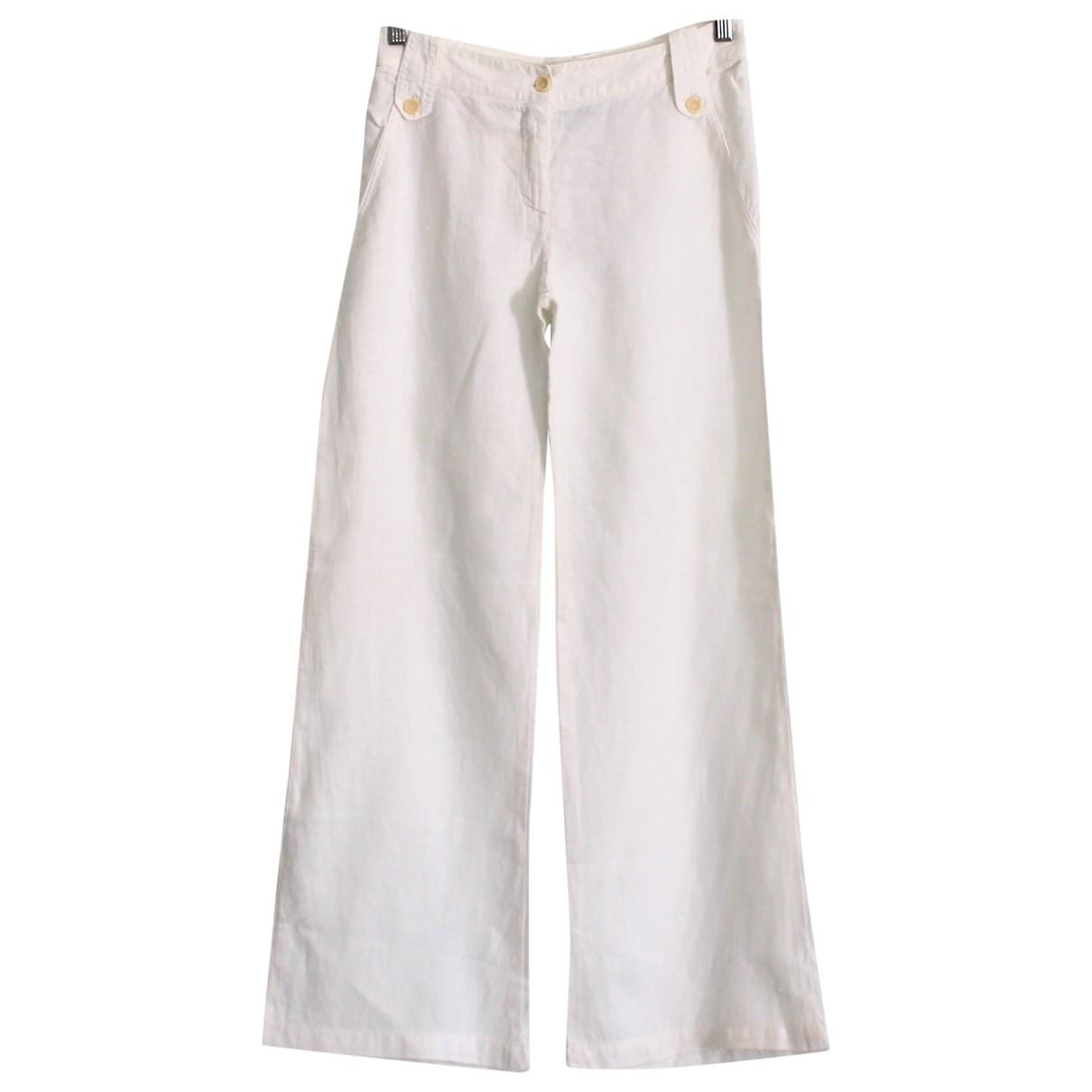 Patrizia Pepe \N White Cotton Trousers for Women 42 IT