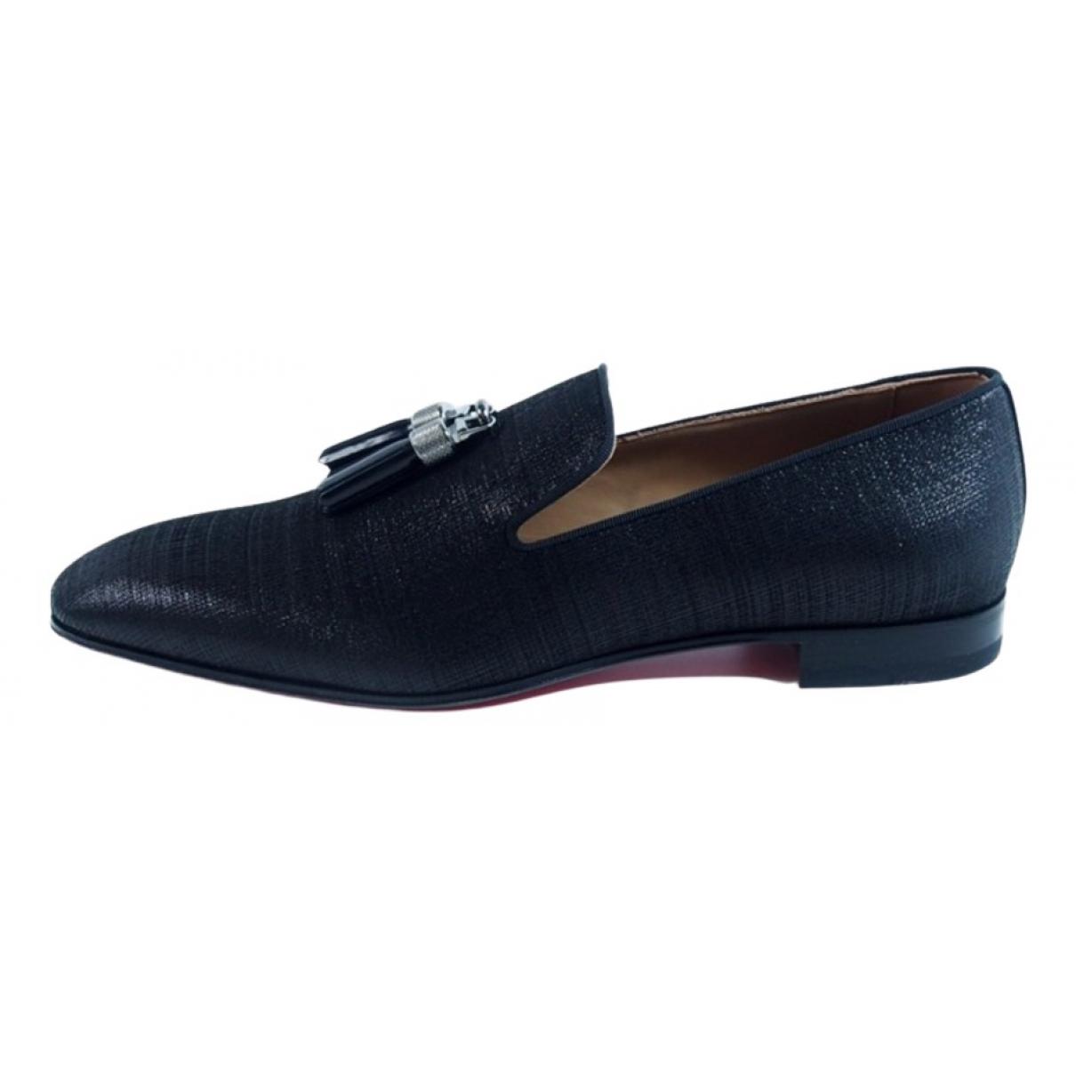 Christian Louboutin \N Black Cloth Flats for Men 40 EU