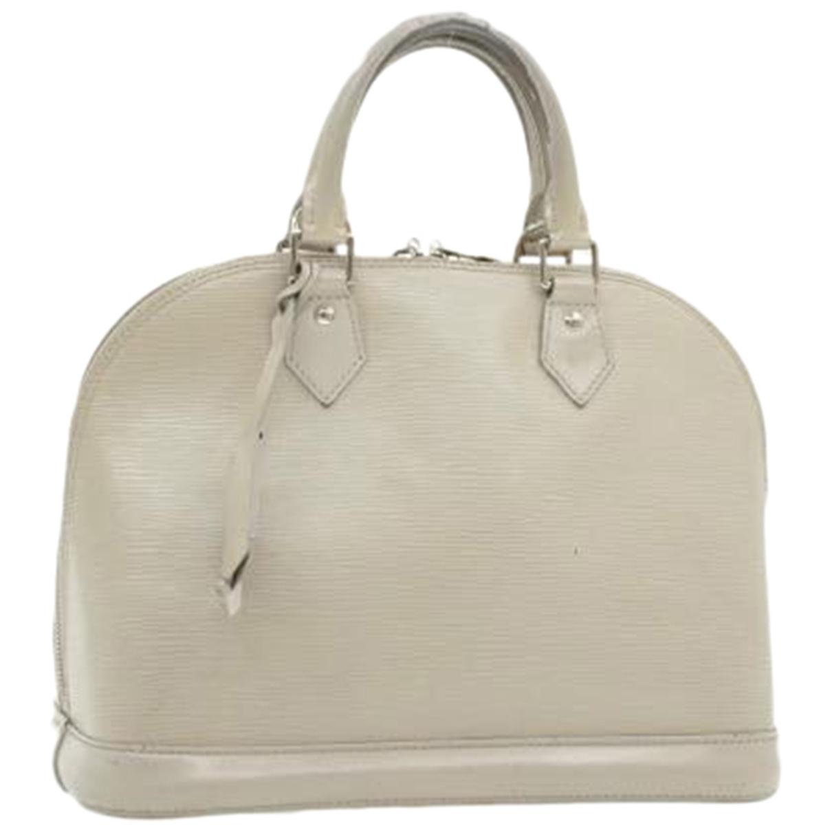 Louis Vuitton Alma Grey Leather handbag for Women \N