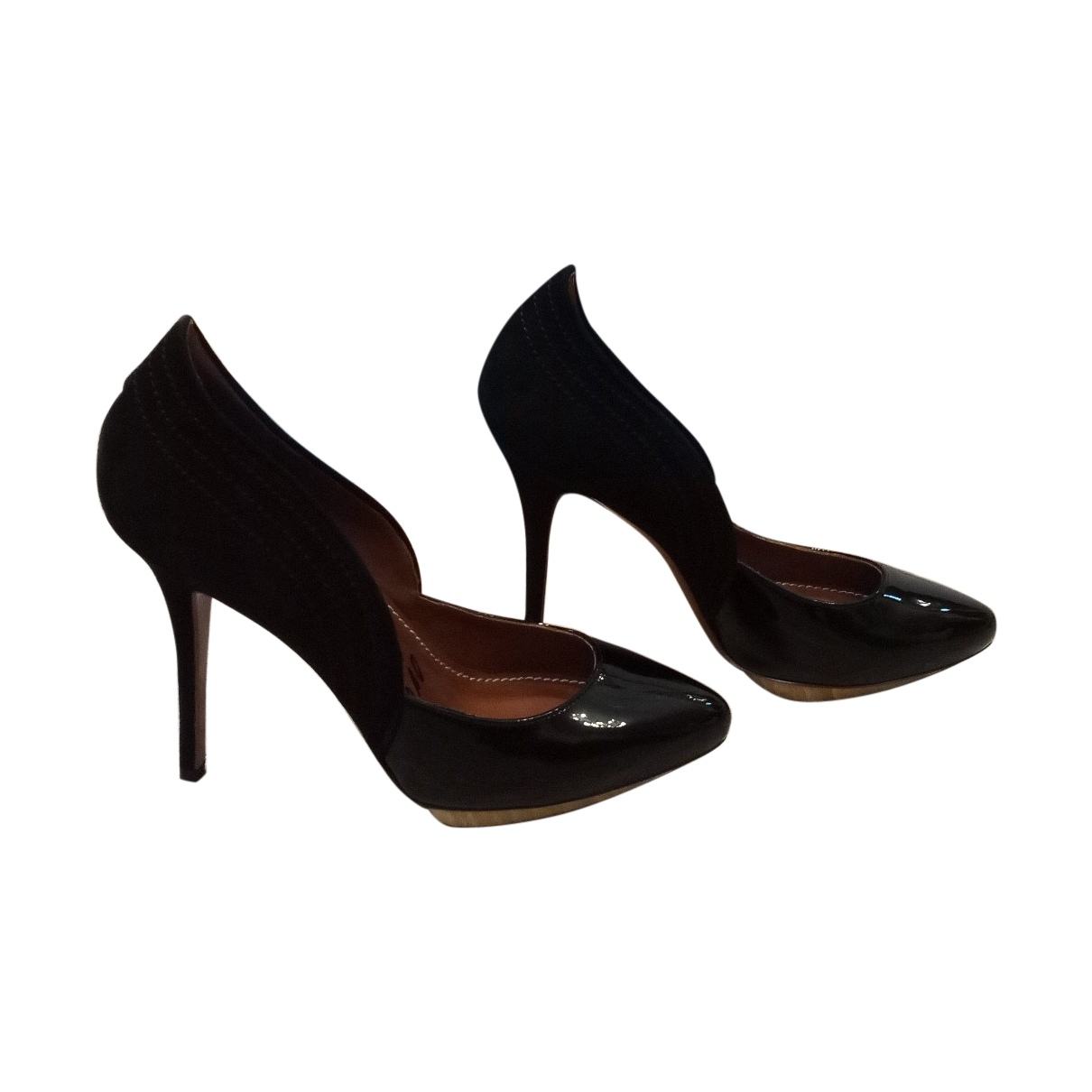 Lanvin \N Black Leather Heels for Women 38.5 EU