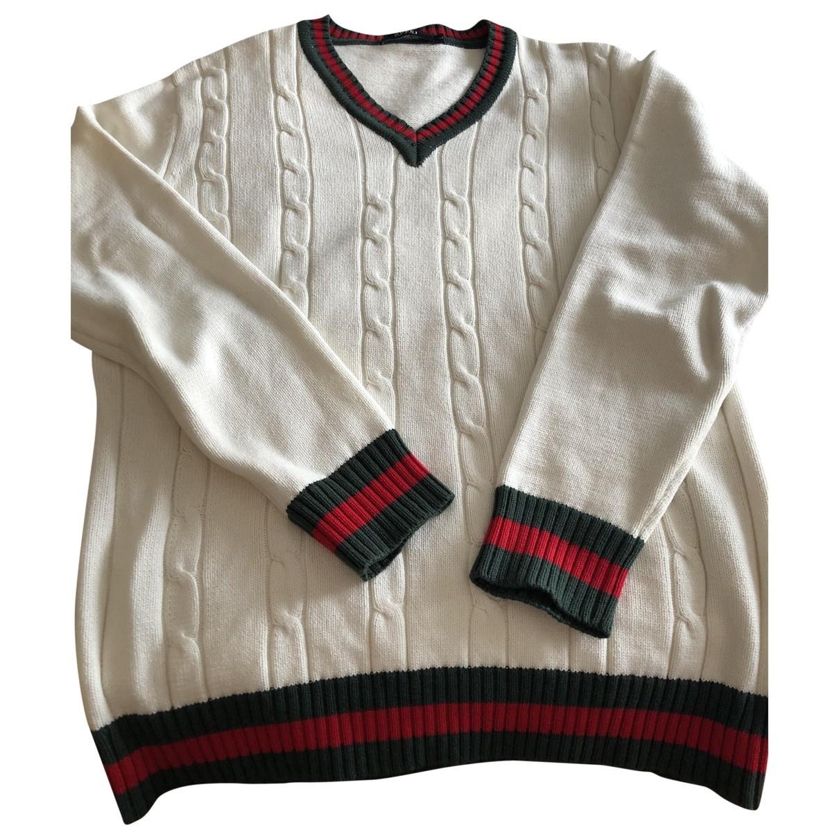 Gucci - Pulls.Gilets.Sweats   pour homme en coton - ecru