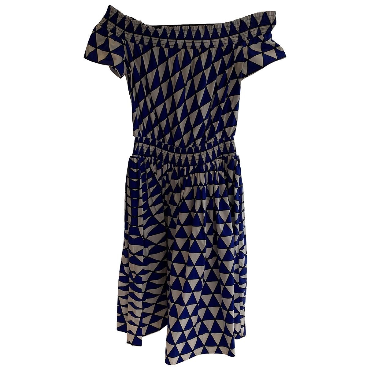 Prada \N Kleid in  Blau Leinen
