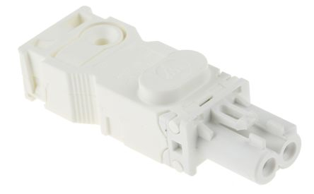 Wieland , GST15i2 Female 2 Pole Mini Connector, Cable Mount, with Strain Relief, Rated At 16A, 250 V, White